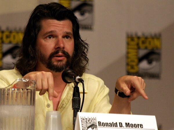 Ron Moore at Comic-Con 2007's Battlestar Galactica Panel, cc Flickr/KenC